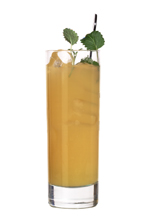 Loundberg - The Loundberg drink is made from whiskey, orange juice and pear soda, and served in a highball glass.