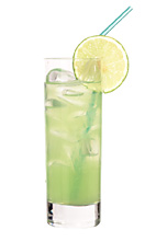Mad Dog - The Mad Dog drink is made from tequila, creme de bananes and lime juice, and served in a highball glass.