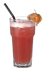 Madras - The Madras drink is made from vodka, cranberry juice and orange juice, and served in a highball glass.