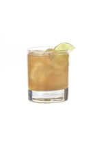 Mandarine Sour - The Mandarine Sour drink is made from Mandarine Napoleon, lemon juice, sugar syrup and egg white, and served in an old-fashioned glass.