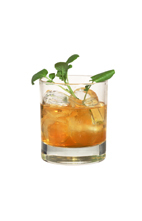Mandarine Whisky - The Mandarine Whisky drink is made from Mandarine Napoleon and scotch, and served in an old-fashioned glass.