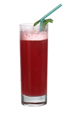 Marianne - The Marianne drink is made from gin, strawberry liqueur, pineapple juice and grenadine, and served in a highball glass.
