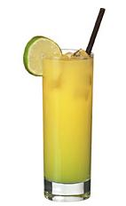 Melon Bali - The Melon Bali drink is made from vodka, Midori melon liqueur and orange juice, and served in a highball glass.