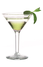 Melon Dry - The Melon Dry cocktail is made from vodka and Midori melon liqueur, and served in a cocktail glass.