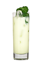Midori 43 - The Midori 43 drink is made from Midori Melon Liqueur, Licor 43 and milk, and served in a highball glass.