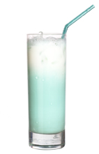 Minilla - The Minilla drink is made from vodka, creme de menthe, vanilla liqueur and milk, and served in a highball glass.