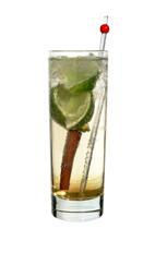 Mizzy - The Mizzy drink is made from raspberry rum (aka Bacardi Razz), cinnamon liqueur, lime wedges, a cinnamon stick and lemon-lime soda, and served in a highball glass.