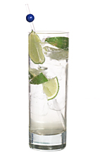 Vodka Lime - The Vodka Lime drink is made from vodka and lime wedges, and served in a highball glass.