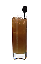 Muddy Water - The Muddy Water drink is made from rum, cola and orange juice, and served in a highball glass.