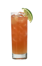 Passoa Passion - The Passoa Passion drink is made from vodka, Passoa, lemon-lime soda and Red Bull, and served in a highball glass.