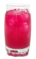 Pêra Lemonade™ #1 - The Pêra Lemonade is a non-alcoholic drink made from Pêra™ Prickly Pear Syrup and lemonade, and served in a highball glass.