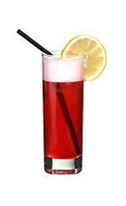 Rabbits Revenge - The Rabbits Revenge drink is made from bourbon, pineapple juice, grenadine and tonic water, and served in a highball glass.
