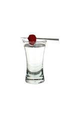 Razz - The Razz shot is made from Bacardi Razz rum and a raspberry, and served in a shot glass.