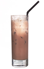 Spurs Scores - The Spurs Scores drink is made from cognac and chocolate milk, and served in a highball glass.