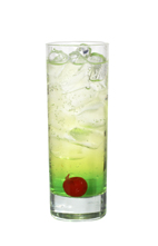 Studio 54 - The Studio 54 drink is made from gin, Midori Melon Liqueur and tonic water, and served in a highball glass.