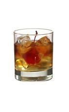 Supreme - The Supreme drink is made from vodka, sweet vermouth and peach liqueur, and served in an old-fashioned glass.