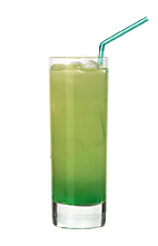 Tropicooler - The Tropicooler drink is made from Pisang Ambon, lime vodka and pineapple juice, and served in a highball glass.