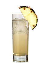 Vanilla Sky - The Vanilla Sky drink is made from vanilla vodka, Sourz Pineapple and lemon-lime soda, and served in a highball glass.