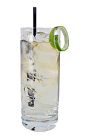 The Apple Rum Rickey is made from Apple Brandy, Light Rum and club soda, and served in a chilled highball glass.