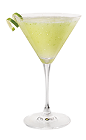 The Appletini is made from Skyy Vodka, sour apple liqueur and lemon-lime soda, and served in a cocktail glass.