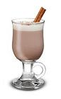 The Hot Mint Chocolate drink is made from Baileys Irish Cream, peppermint schnapps and hot cocoa, and served in a coffee glass or an Irish coffee glass.