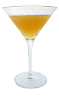 The Blue Grass Cocktail is made from Bourbon, pineapple juice, fresh lemon juice and Maraschino Liqueur, and served in a chilled cocktail glass.
