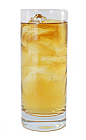 The Bourbon and Branch drink is made from Single Barrel Bourbon and bottled water, and served in a highball glass.