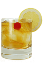 The Brandy Cobbler drink is made from Brandy, sugar and club soda, and served in a chilled old-fashioned glass.