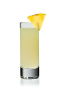 The Paradise Koko Shot is made from Stoli Chocolat Kokonut vodka and pineapple juice, and served in a chilled shot glass.