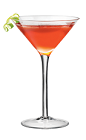The Cosmo PAMA cocktail is made from PAMA Pomegranate Liqueur, Cointreau, lime and cranberry juice.