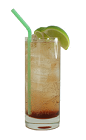 The Diablo drink is made from Silver Tequila, Crème de Cassis and ginger ale, and served in a highball glass.