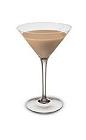 The Irish Martini is made from Baileys Irish Cream and vodka, and served in a chilled cocktail glass.