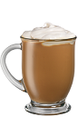 The Kahlua Dulce de Leche Creme drink is made from Kahlua, vodka, espresso, half-and-half and dulce de leche, and served in a coffee mug.