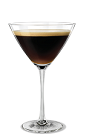 The Kahlua Espresso Martini cocktail is made from Kahlua coffee liqueur, vodka and espresso, and served in a chilled cocktail glass.