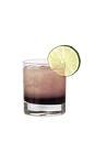 The Monza drink is made from Vodka, Crème de Cassis and grapefruit juice, and served in an old-fashioned glass.