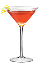 The Martini PAMA cocktail is made from PAMA Pomegranate Liqueur, Cointreau and vodka, and served in a chilled cocktail glass.