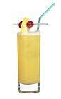 The Amsterdam drink is made from gin, triple sec and orange juice, and served in a highball glass.