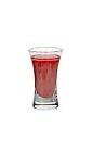 The Monkey Brain shot is made from sambuca, Campari and Baileys (or Dooleys), and served in a shot glass.