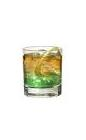 The Apple Jim drink is made from bourbon (aka Jim Beam) and Sourz Apple, and served in an old-fashioned glass.