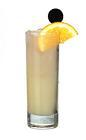 The No Fear drink is made from Absolut Citron, grapefruit jucie and Schweppes Russian, and served in a highball glass.