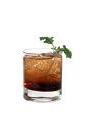 The Brain Eraser drink is made from vodka, Kahlua, amaretto and club soda, and served in an old-fashioned glass.