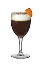 The Cafe Orange drink is made from Cointreau, hot coffee and whipped cream, and served in a wine glass or an Irish coffee glass.