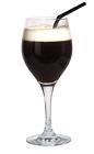 The Cafe de Cuba drink is made from dark rum, creme de cacao, hot coffee and light cream, and served in a wine glass or an Irish coffee glass.