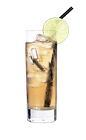 The Einar drink is made from vanilla vodka, cognac, lime juice and lemon-lime soda, and served in a highball glass.