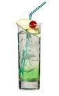 The Foregreen drink is made from Sourz Apple, vodka and lemon-lime soda, and served in a highball glass.