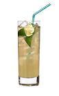 The Havana Beach drink is made from white rum, sugar syrup and pineapple juice, and served in a highball glass.