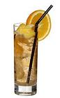 The Horses Neck drink is made from brandy, Angostura bitters and ginger ale, and served in a highball glass.
