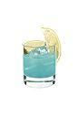 The Hpnotiq Chill drink is made from Hpnotiq and a squeeze of lemon, and served in an old-fashioned glass.