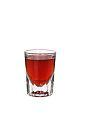 The King of Denmark shot is made from sambuca, Campari and Gammel Danks (bitters), and served in a shot glass.
