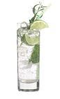 The Limetto Limonade drink is made from vodka, Cinzano Limetto, lemon-lime soda and lime wedges, and served in a highball glass.